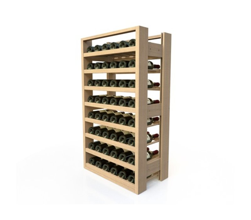 XXLselect Beech wood wine rack - 8 legvakken - 48 Bottles