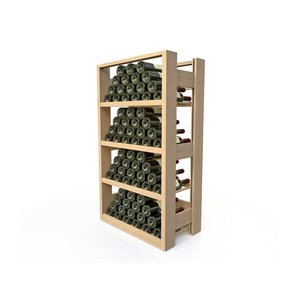 XXLselect Beech wood wine rack - 4 legvakken - 40-72 Bottles