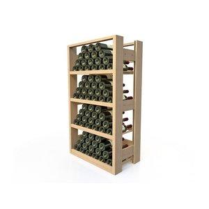 XXLselect Wijnrek Beukenhout - 4 legvakken - 40-72 Flessen