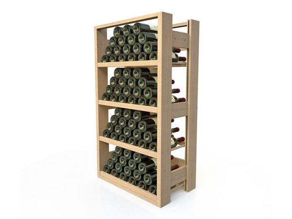 XXLselect Buchenholz Weinregal - 4 legvakken - 40 bis 72 Flaschen