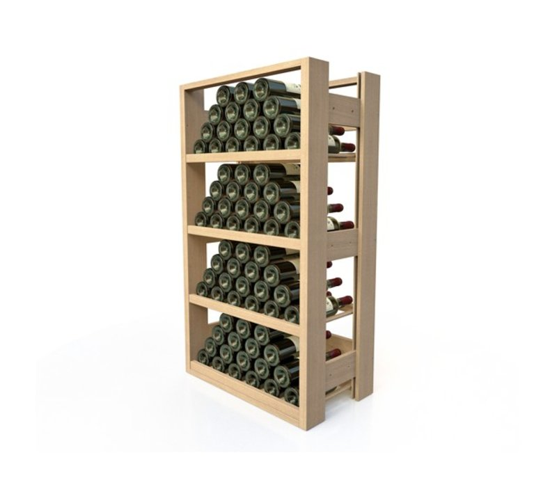 XXLselect Beech wood wine rack - 4 legvakken - 40-72 Bottles