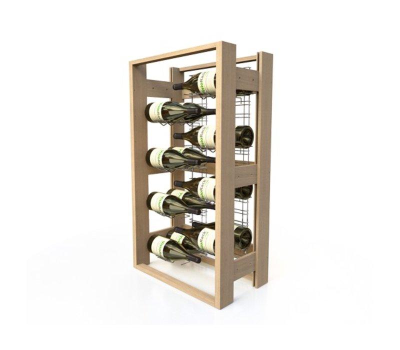 XXLselect Wine rack Beech - 16 Magnums