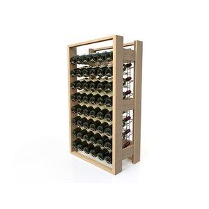 XXLselect Beech wood wine rack - 48 bottles Right