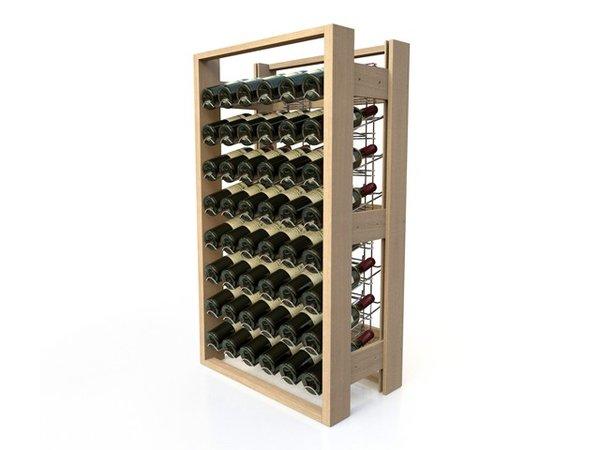 XXLselect Buchenholz Weinregal - 48 Flaschen Law