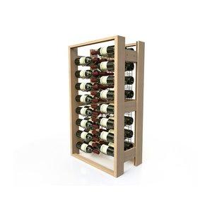XXLselect Weinregal Buche - 48 Flaschen gekreuzte