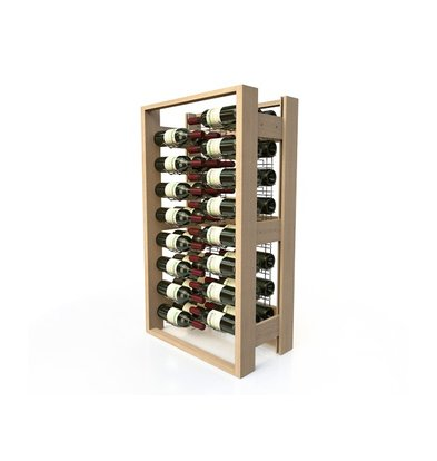 XXLselect Wine rack Beech - 48 Bottles Crossed