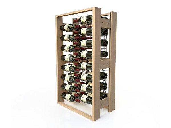 XXLselect Wine Rack Beech - 48 Bottles Crossed
