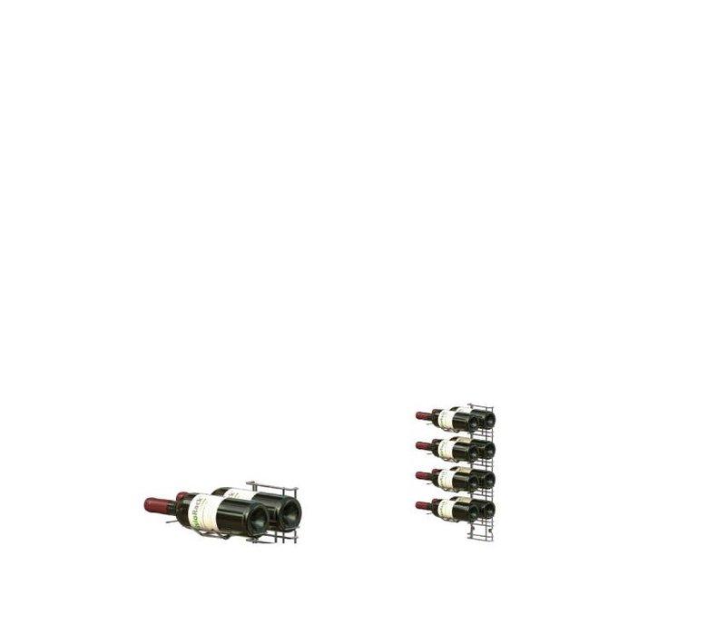 XXLselect WijnFlessenrek Presentation 8 Flaschen - 4 Ebenen - 75cl
