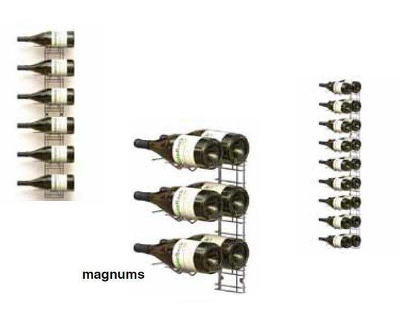 XXLselect WijnFlessenrek Presentation 18 Magnum Flaschen - 9 Stufen