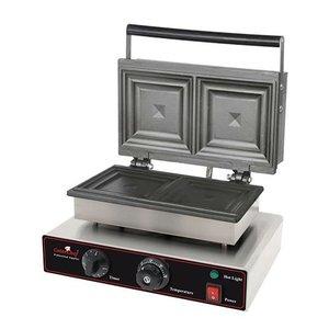 Caterchef Sandwich Maker Professional Edelstahl mit Timer - 34x39x (H) 25cm - 1550W