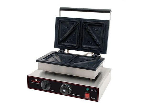 Caterchef Sandwich-Maker Professional - Split rostfreiem Stahl mit einem Timer - 34x39x (H) 25cm - 1550W