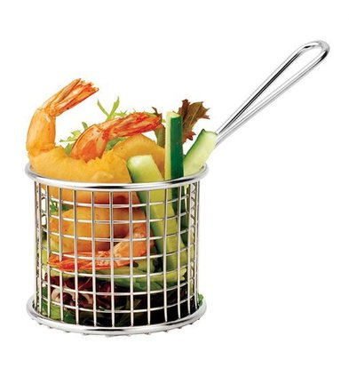 XXLselect Food Presentation Basket Mini Stainless Steel | Around | 9cm