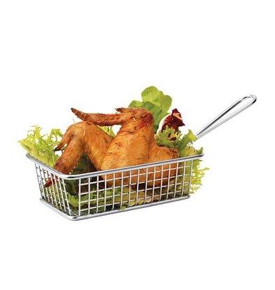 XXLselect Food Presentation Basket Mini Stainless Steel | Rectangle | 8x14x11cm