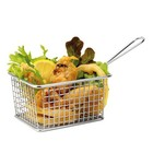 XXLselect Food Presentation Basket Mini Stainless Steel   Rectangle   8x12x9cm