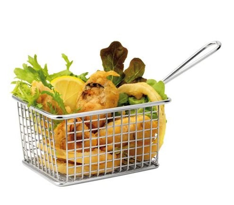 XXLselect Food Presentatie Mand Mini RVS | Rechthoekig | 8x12x9cm