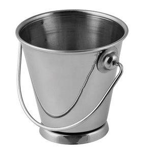 XXLselect Speisenpräsentation Bucket RVS | Mini Rund | 7cm