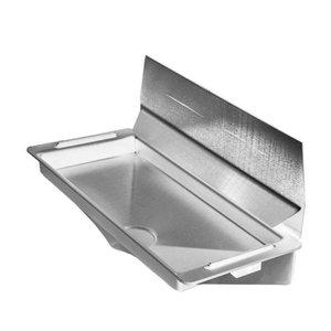 XXLselect Wassersammler / Auffangwanne für Dyson Handtrockner - Grau + Edelstahl-Spray Wand