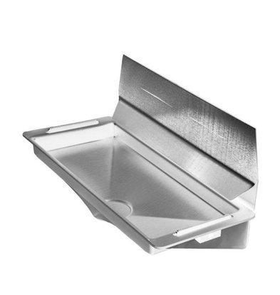XXLselect Wasserschale / Drip DELUXE für Dyson Handtrockner (Universal) | GREY + Edelstahl-Spray Wand