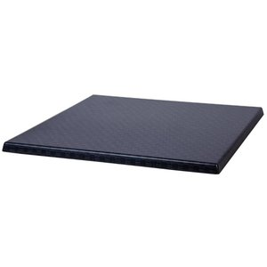 Bolero Werzalit plastic reed anthracite table top, square 60x60cm