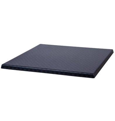 Bolero Werzalit kunststof riet antraciet tafelblad, vierkant 60x60cm