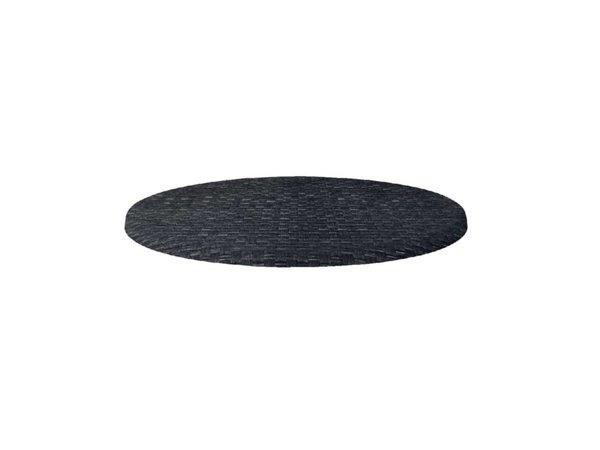 Bolero Werzalit Kunststoff Reed anthrazit Tischplatte, um 60cm