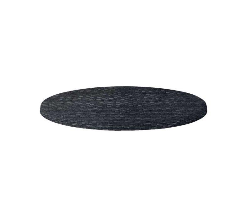 Bolero Werzalit kunststof riet antraciet tafelblad, rond 60cm