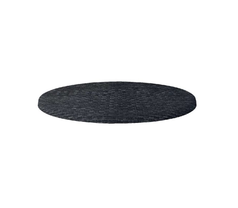 Bolero Werzalit plastic reed anthracite tabletop, around 60cm