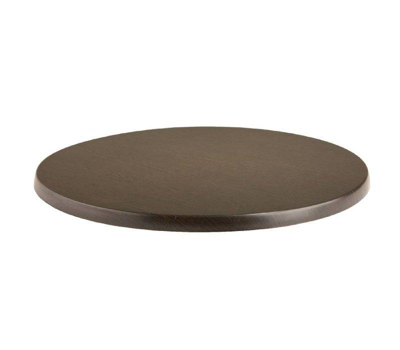 Bolero Werzalit tafelblad Wenge Ø80cm