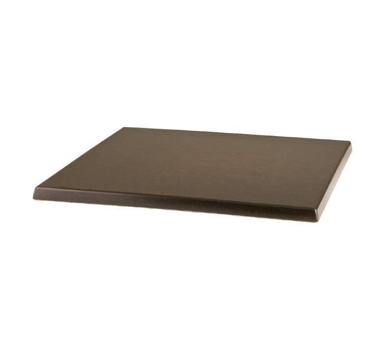 Bolero Werzalit Tischplatte Wenge 60 x 60 cm