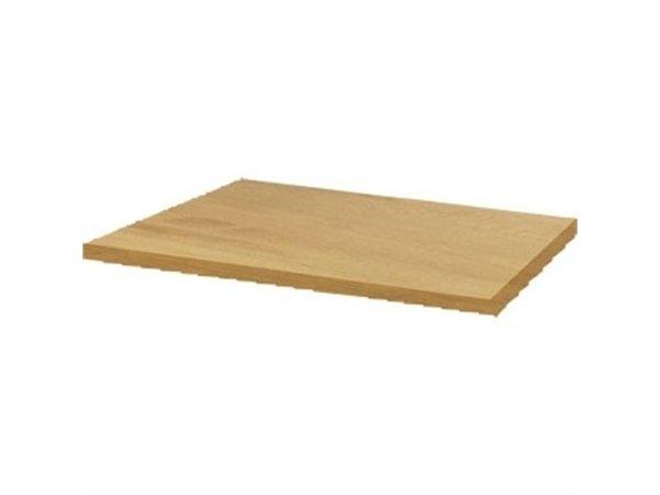 Bolero Werzalit helle Eiche Tischplatte, 60x60cm
