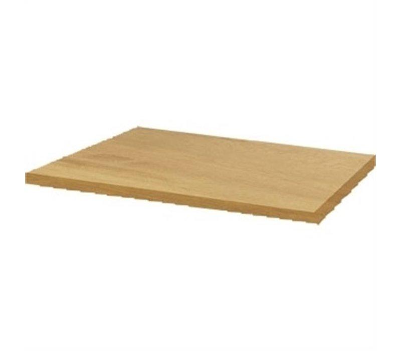Bolero Werzalit light oak tabletop, 60x60cm