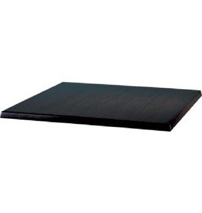 Bolero Werzalit black tabletop, 60x60cm
