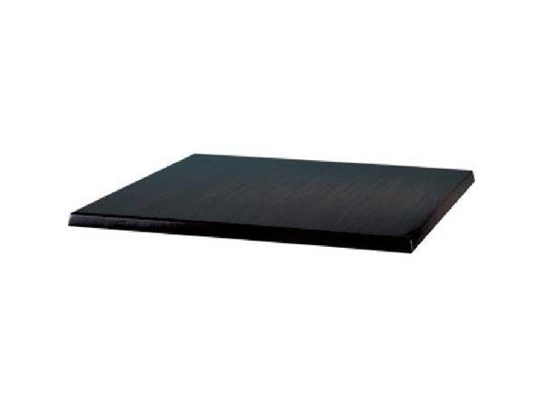 Bolero Werzalit schwarz Tischplatte, 60x60cm