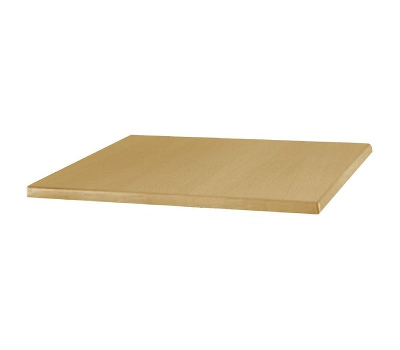 Bolero Werzalit light oak table, 70x70cm