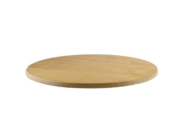 Bolero Werzalit light oak table top, round 60cm