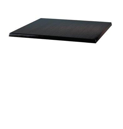 Bolero Werzalit black tabletop, 70x70cm