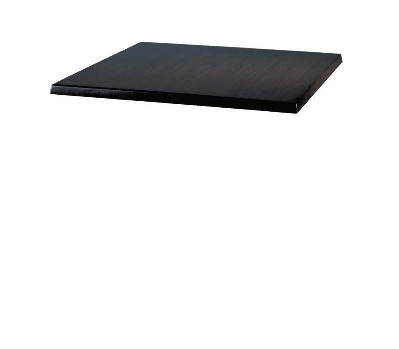 Bolero Werzalit zwart tafelblad, 70x70cm
