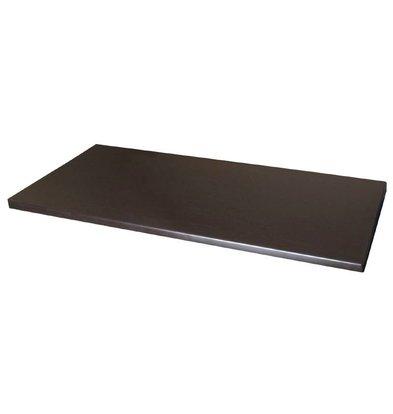 Bolero Werzalit Tischplatte Wenge 110 x 70cm