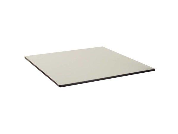Bolero Kompakte Außentischplatte, gebürstet silber, 68x68cm