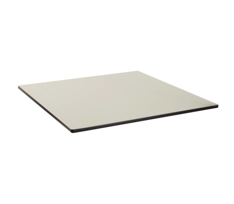 Bolero Compact Exterior tafelblad, geborsteld zilver, 68x68cm