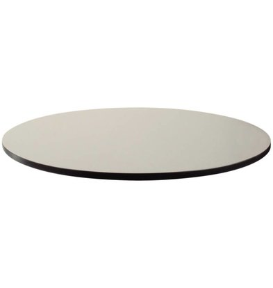 Bolero Compact Exterior tafelblad, geborsteld zilver, Ø60cm