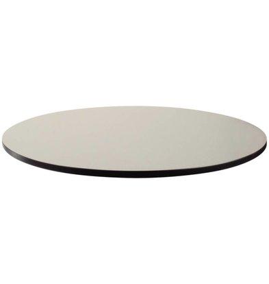 Bolero Kompakte Außentischplatte, gebürstetes Silber, Ø60cm