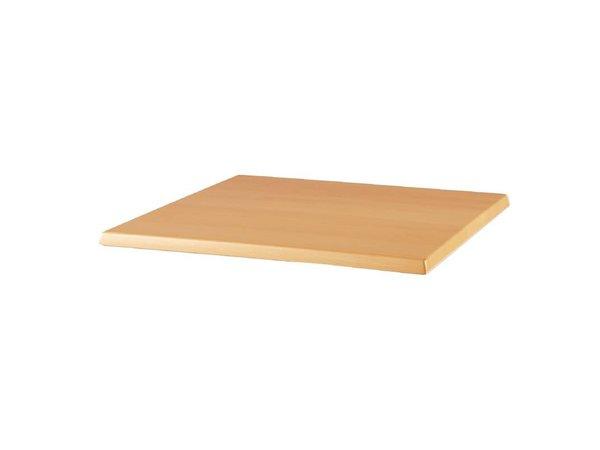 Bolero Werzalit tabletop beech, 700x700 (H) 30mm