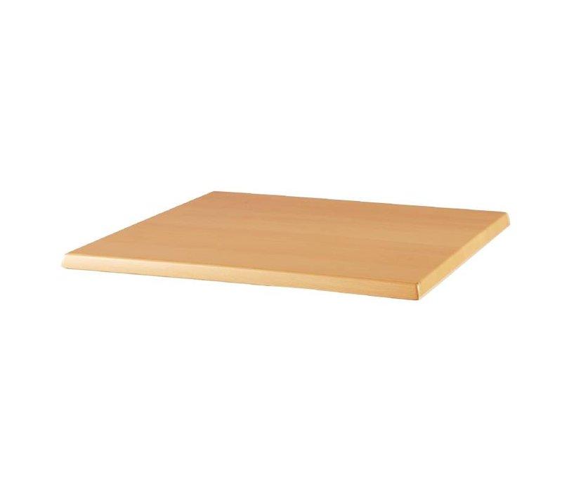Bolero Werzalit Tischplatte Buche, 700x700 (H) 30 mm