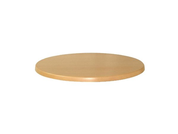Bolero Werzalit Buche Tischplatte, rund 80cm