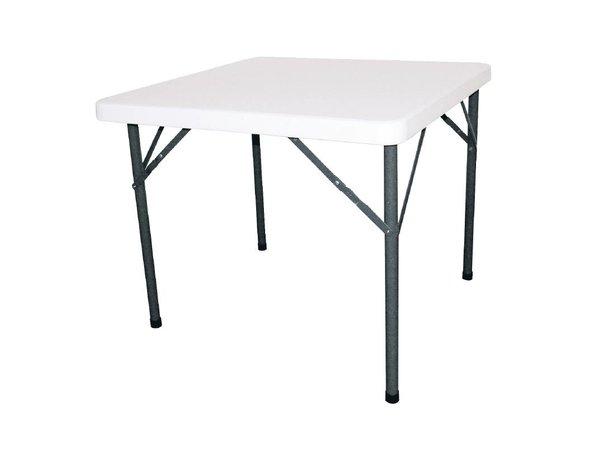 Bolero Runder Tisch mit Klappfüßen - Terrasse Tabelle - 74 (h) x86x86cm