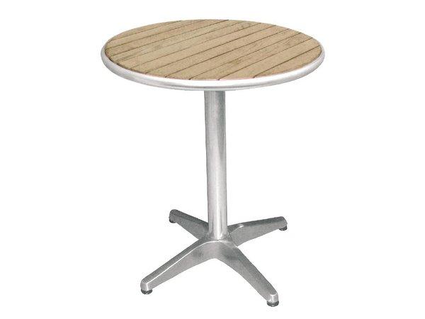 Bolero Bistro Table Patio - Aluminum Frame - with ash Tabletop - 72 (H) x60 (Ø) cm