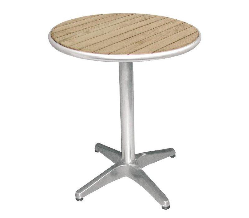 Bolero Bistro Tisch Terrasse - Aluminiumrahmen - mit Asche Tabletop - 72 (H) x60 (Ø) cm