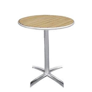 Bolero Folding Catering Tabelle - Aluminiumrahmen - mit Asche Tabletop - 72 (H) x60 (Ø) cm