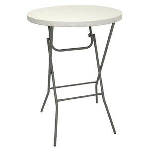Bolero Collapsible high table - 110 (h) x80øcm - up to 170 kg Carrying Capacity!